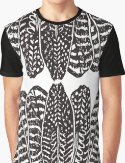 Tribal Feathers  Black Graphic T-Shirt