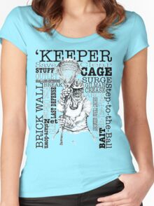 Word Montage-'KEEPER (border) Women's Fitted Scoop T-Shirt