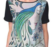 Peacock Dawn Women's Chiffon Top