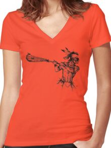 The Founder Women's Fitted V-Neck T-Shirt