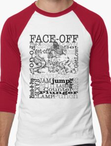 Word Montage-FACE-OFF (border) Men's Baseball ¾ T-Shirt