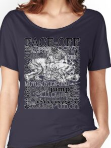 Word Montage-FACE-OFF (border) Women's Relaxed Fit T-Shirt