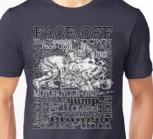 Word Montage-FACE-OFF (border) Unisex T-Shirt