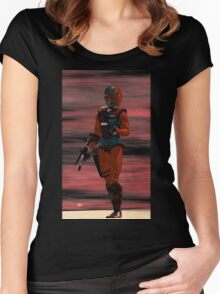 ARES CYBORG FROM HYPERION WORLD Sci-Fi Movie Women's Fitted Scoop T-Shirt