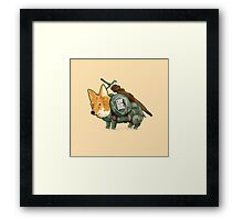 Good Dog! w/ Sword by Devon Baker Framed Print