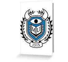Monsters University Logo Greeting Card