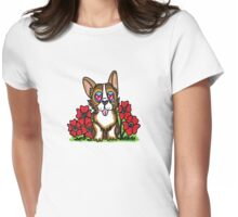Poppy the Corgi Womens Fitted T-Shirt