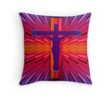Psychedelic cross Throw Pillow