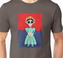 Frida Skelly with Calla Lilies Unisex T-Shirt