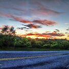 Pretty Sunrise On The Road by James Brotherton