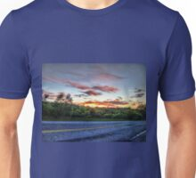 Pretty Sunrise On The Road Unisex T-Shirt