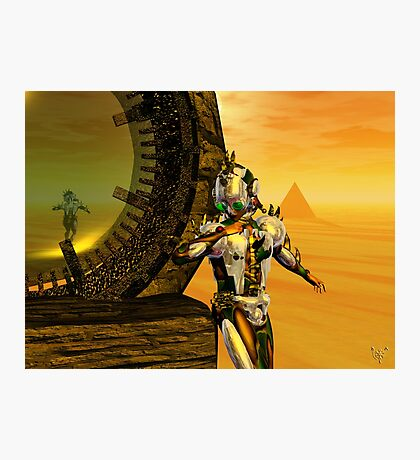 CYBORG TITAN IN THE DESERT OF HYPERION Sci-Fi Movie Photographic Print