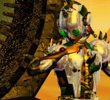 CYBORG TITAN IN THE DESERT OF HYPERION Sci-Fi Movie Sticker