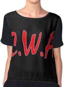 C. W. A. Crackas Wit Attitudes Chiffon Top