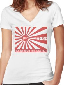 Remember The Buster - Paul Walker Tribute Women's Fitted V-Neck T-Shirt