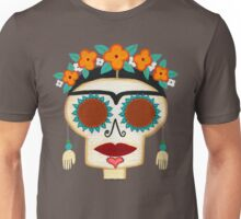 Frida Skelly with Earrings Unisex T-Shirt