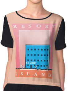 RESORT ISLAND TOURIST ITEMS - LISA THE PAINFUL RPG Chiffon Top
