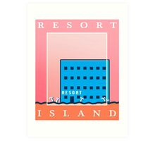 RESORT ISLAND TOURIST ITEMS - LISA THE PAINFUL RPG Art Print