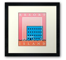 RESORT ISLAND TOURIST ITEMS - LISA THE PAINFUL RPG Framed Print