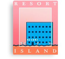 RESORT ISLAND TOURIST ITEMS - LISA THE PAINFUL RPG Canvas Print