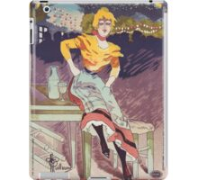 """Vintage Poster for the play """"Gigolette""""  iPad Case/Skin"""