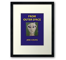 Jose chung from outer space x-files Framed Print