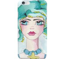 Girl and her octopus iPhone Case/Skin