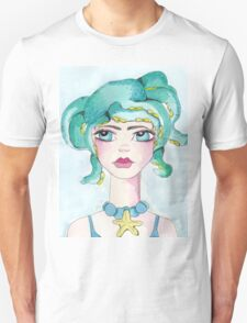Girl and her octopus Unisex T-Shirt
