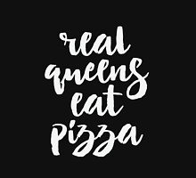 Real Queens Eat Pizza Womens Fitted T-Shirt