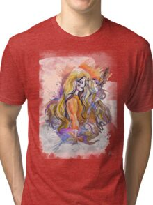hummingbird girl Tri-blend T-Shirt