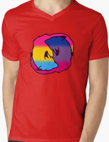 Pan/Bi Cuddles Mens V-Neck T-Shirt