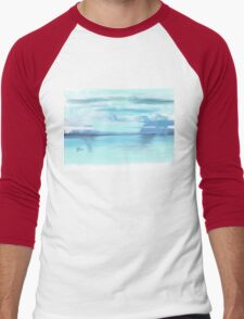 Blue Sunset Men's Baseball ¾ T-Shirt