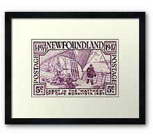 Newfoundland postage stamp, 1947, Cabot Framed Print