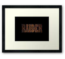 Raider (Rust) Framed Print