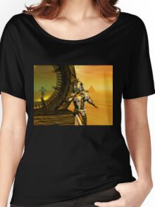CYBORG TITAN IN THE DESERT OF HYPERION Sci-Fi Movie Women's Relaxed Fit T-Shirt