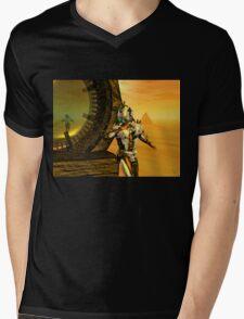 CYBORG TITAN IN THE DESERT OF HYPERION Sci-Fi Movie Mens V-Neck T-Shirt