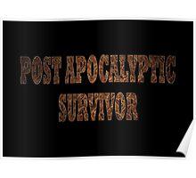 Post Apocalyptic Survivor (Rust) Poster