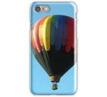 Hot air balloon floating in the air.  iPhone Case/Skin