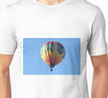 Hot air balloon floating in the air.  Unisex T-Shirt