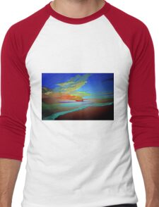 Abstract Art seascape and Sky Men's Baseball ¾ T-Shirt