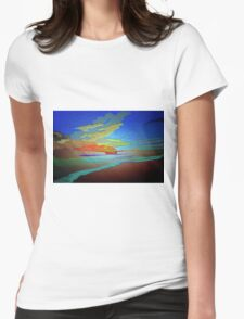 Abstract Art seascape and Sky Womens Fitted T-Shirt