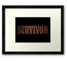 Survivor (Rust) Framed Print