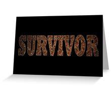 Survivor (Rust) Greeting Card