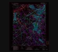 USGS TOPO Map New Jersey NJ Woodbury 255008 1967 24000 Inverted Unisex T-Shirt