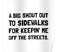 Shout Out Sidewalks Poster