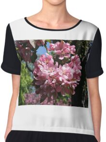 Cherry Tree Blossoms. Chiffon Top