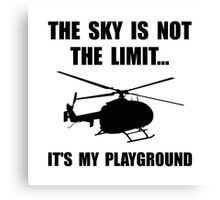 Sky Playground Helicopter Canvas Print