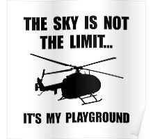 Sky Playground Helicopter Poster