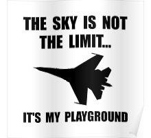 Sky Playground Military Plane Poster