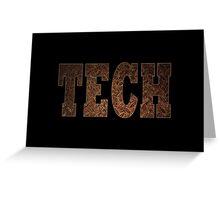 Tech (Rust) Greeting Card